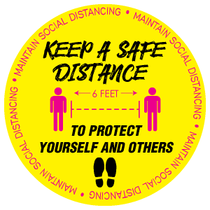 Keep a safe distance to protect yourself and others